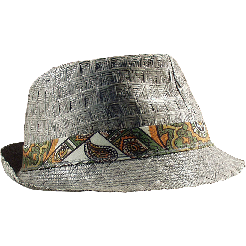 2a3b5df73f04ce Boy's, Old, Woven Straw Fedora with Photo of Original Owner ...