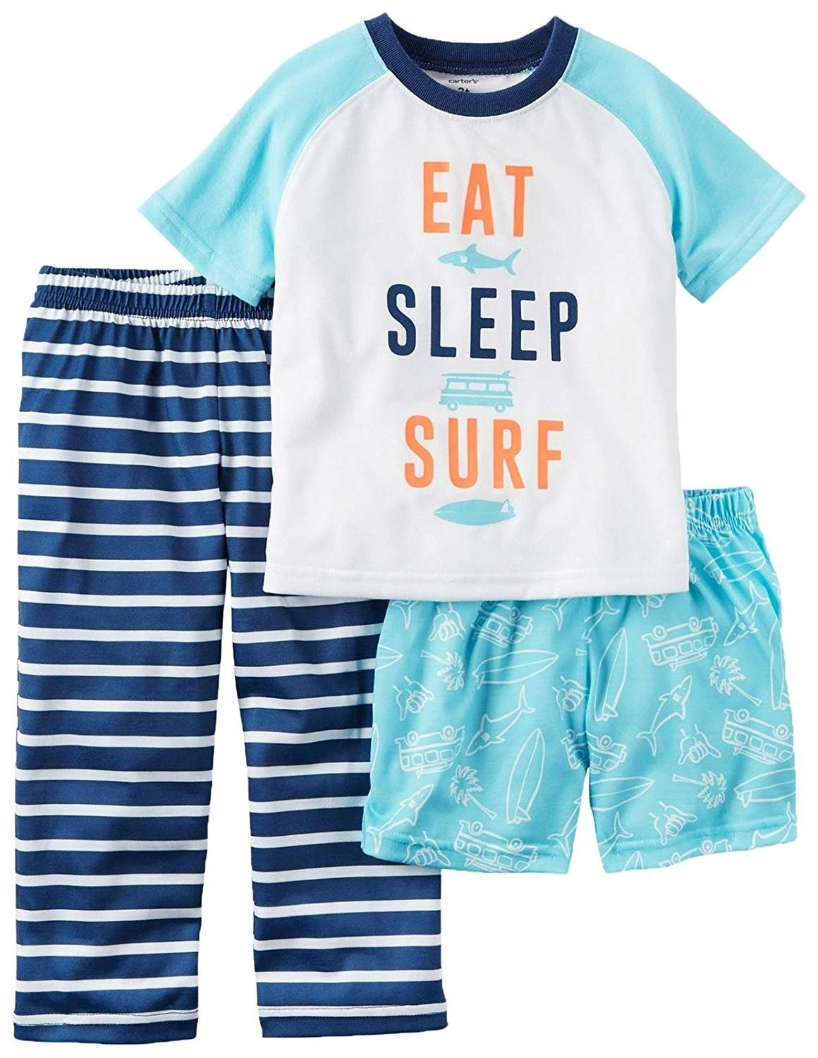 Neon Sharks Infant Baby Girl Boys Sleep and Play Romper Pajama Clothes
