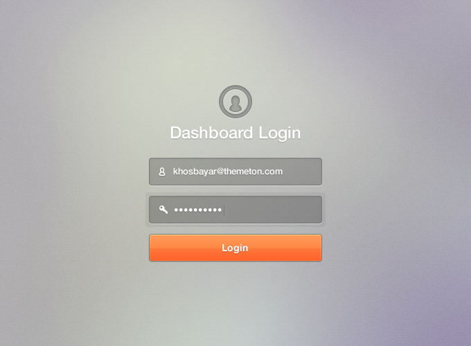 Nice simple dashboard login screen | Real Essistant User Interface ...