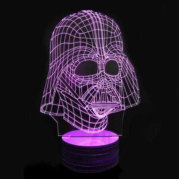 New Disco Star Wars 3d Deco Lamps Darth Vader Helmet Darth Vader Lamp Deco Lamp