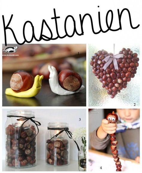 Basteln im Herbst mit Kindern - von Naturmaterialien bis Knöpfe * Mission Mom #kastaniendeko