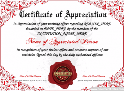 Certificate of appreciation template free to customize download certificate of appreciation template free to customize download print and email hundreds yelopaper Images