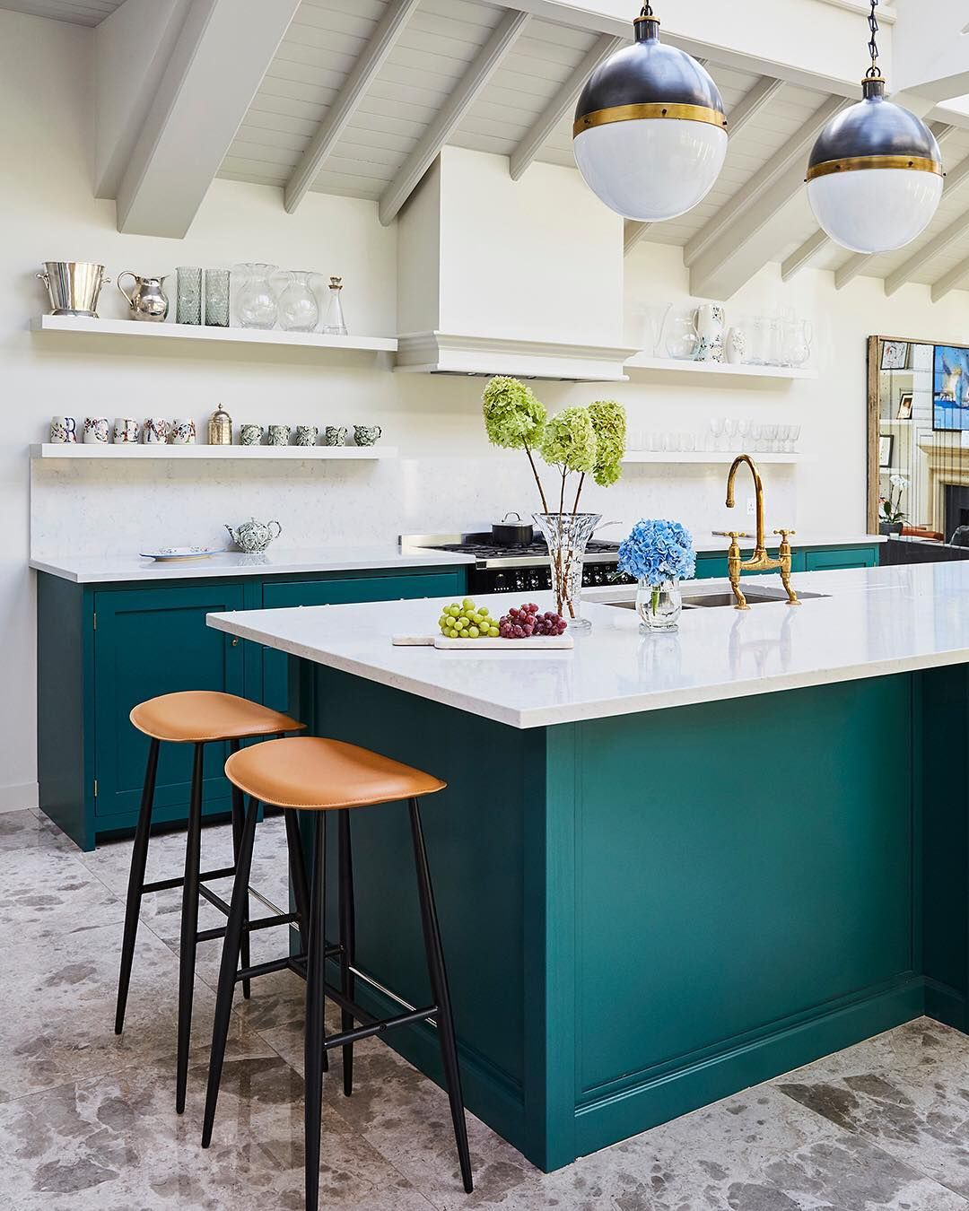 Made Com On Instagram Teal Taupe And More We Ve Got This Season S Ultimate Colour Power Couples Find Out Teal Kitchen Cabinets Teal Kitchen Kitchen Trends