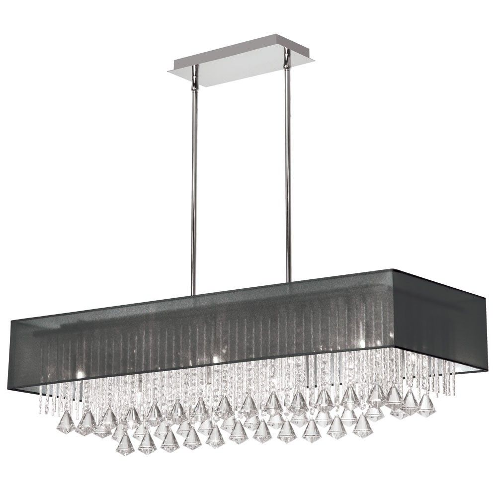 Rectangular Glass Chandelier | Home » 10 Light Horizontal Crystal ...