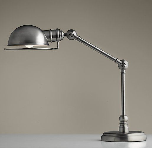 Rh Baby Child S Academy Task Table Lamp Antique Brushed Nickel Inspired By Pharmacy Lamps Of The Early Our Features Articulated Extension