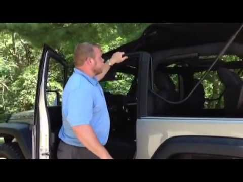 2014 Jeep Wrangler Operating The Soft Top Youtube With Images