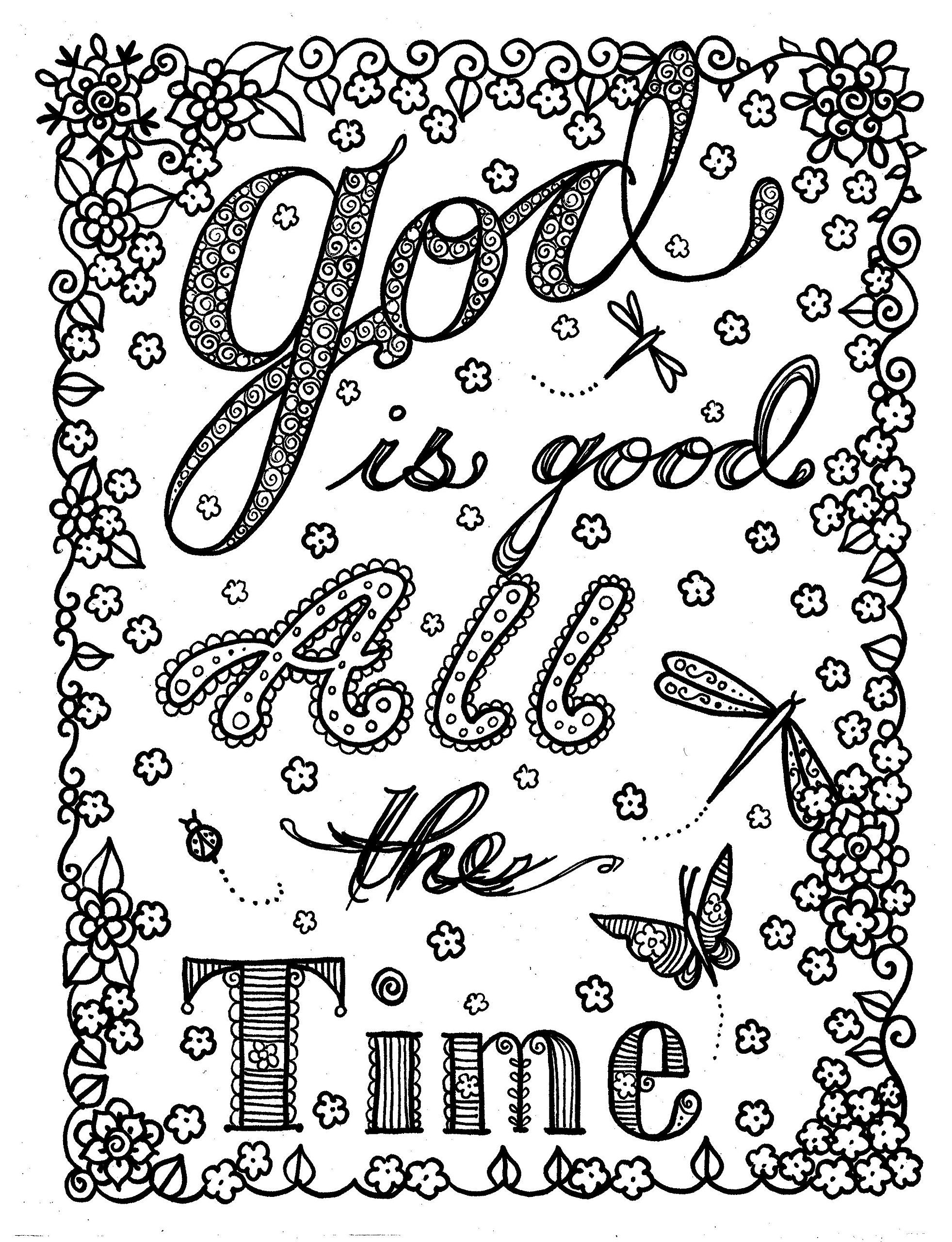 God Is Good Inspirational Messages Of Hope Adult Coloring Book