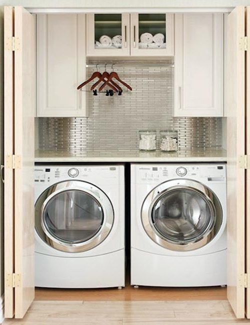 Small laundry room ideas for functional and beautiful room for Small bathroom laundry designs