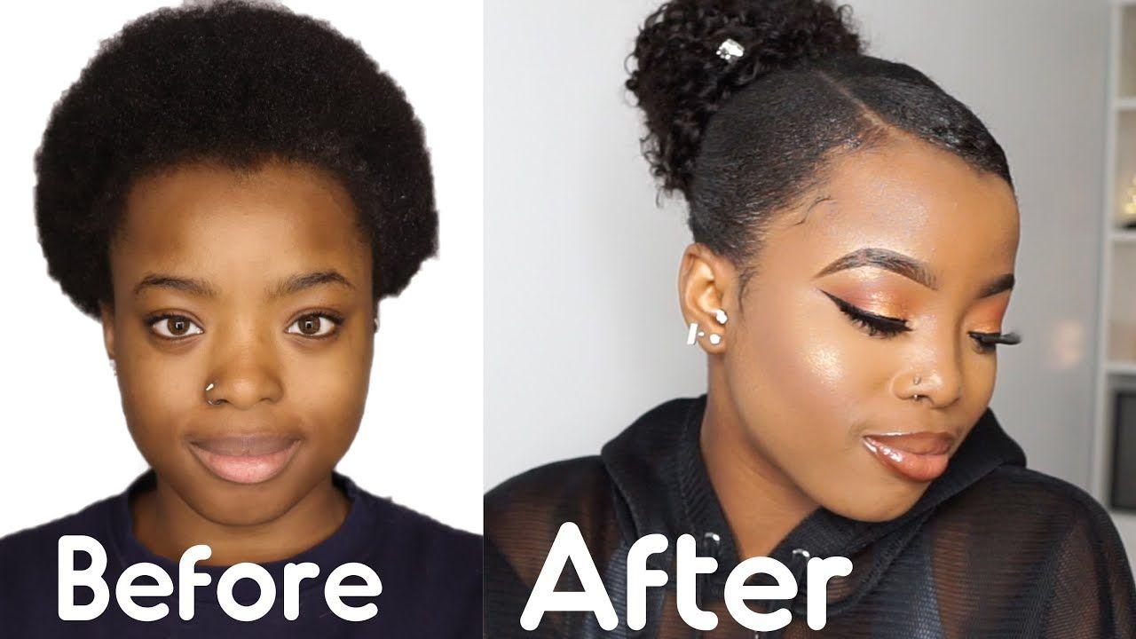 Sleek Weave Ponytail On Short 4c Natural Hair Ft Unice Hair Giveaway Natural Hair Styles Black Ponytail Hairstyles 4c Natural Hair