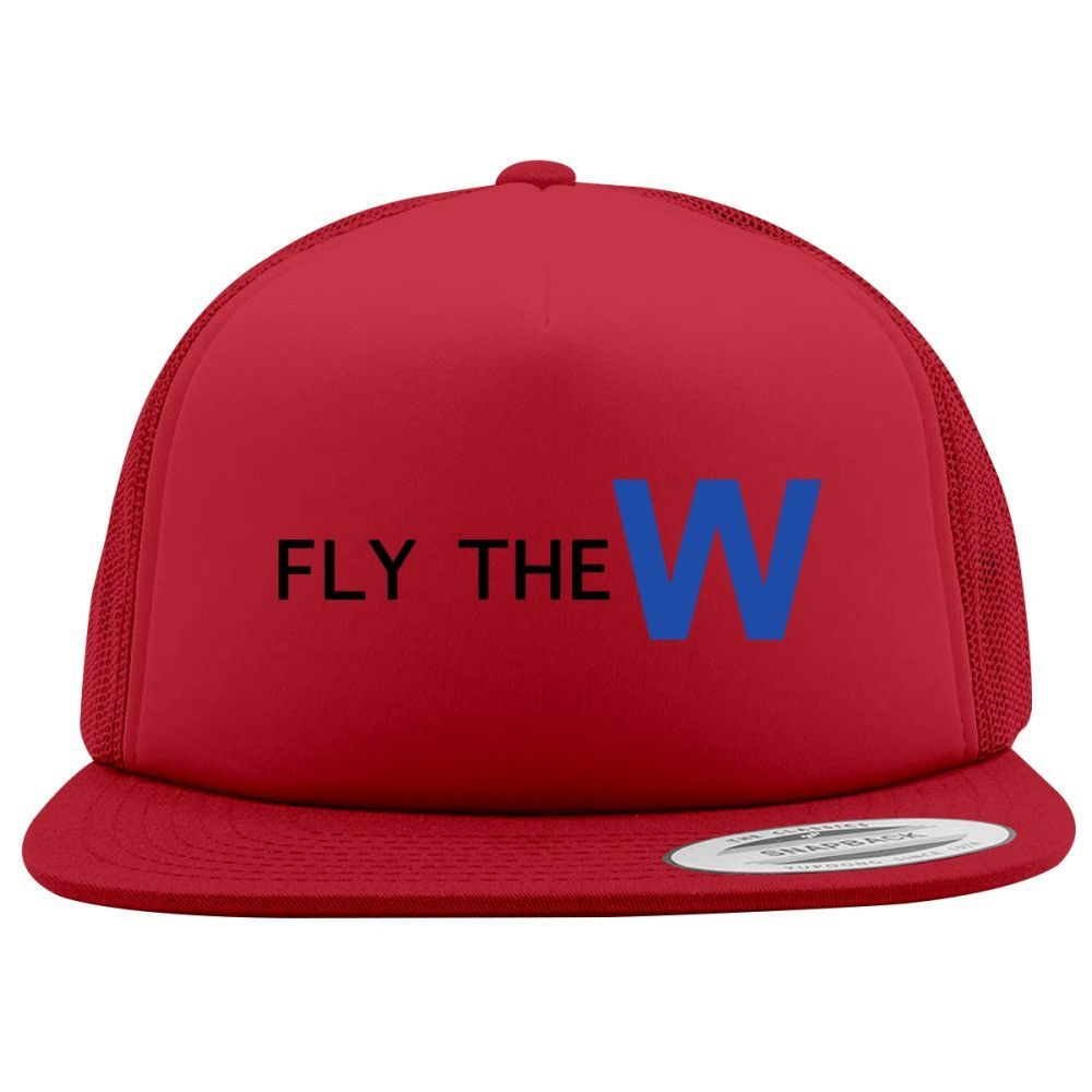 Fly The W - Cubs Playoff Foam Trucker Hat