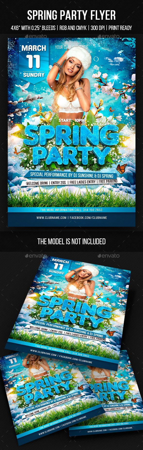 Spring Party Flyer  Party Flyer Flyer Template And Event Flyers