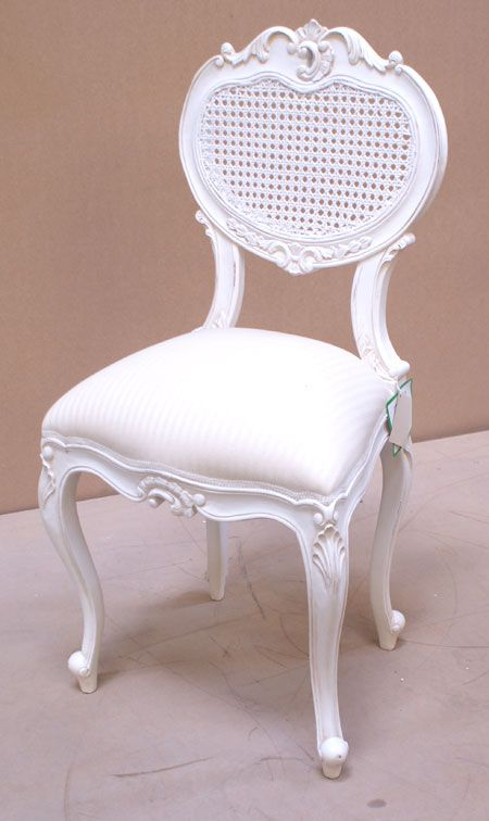 Lovely Chateau White Bedroom Chair White Back