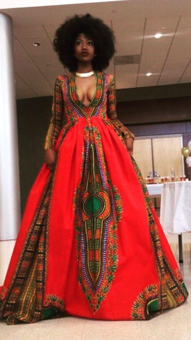 Dashiki Gown Kyemah Mcentyre She Bangs African Prom