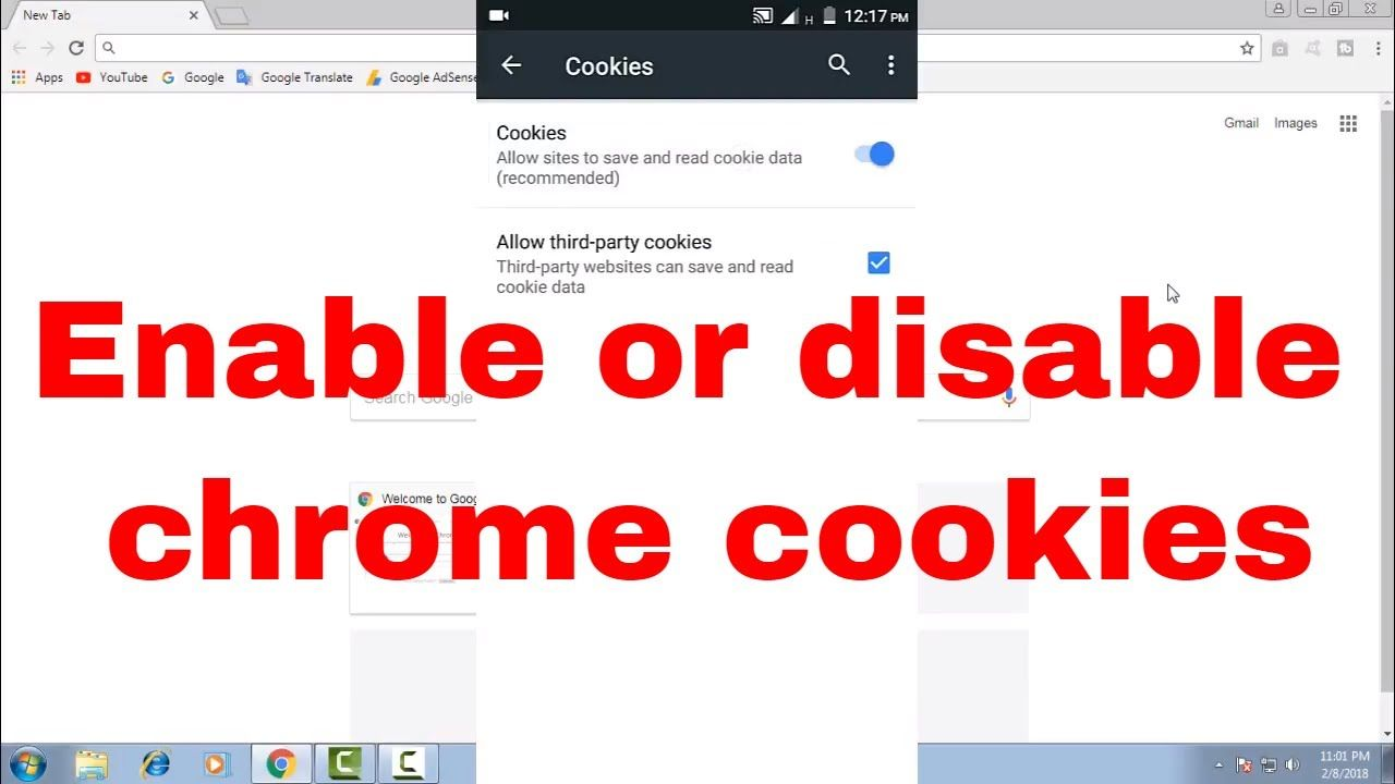 How To Enable Or Disable Turn On Or Off Chrome App Or Browser Cookies Chrome Cookies Chrome Apps Google Cookies