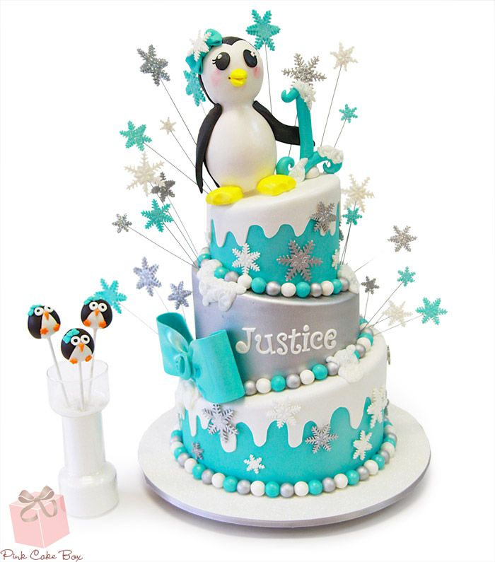 Penguin Cake Pops Celebration Cakes Penguin cake toppers