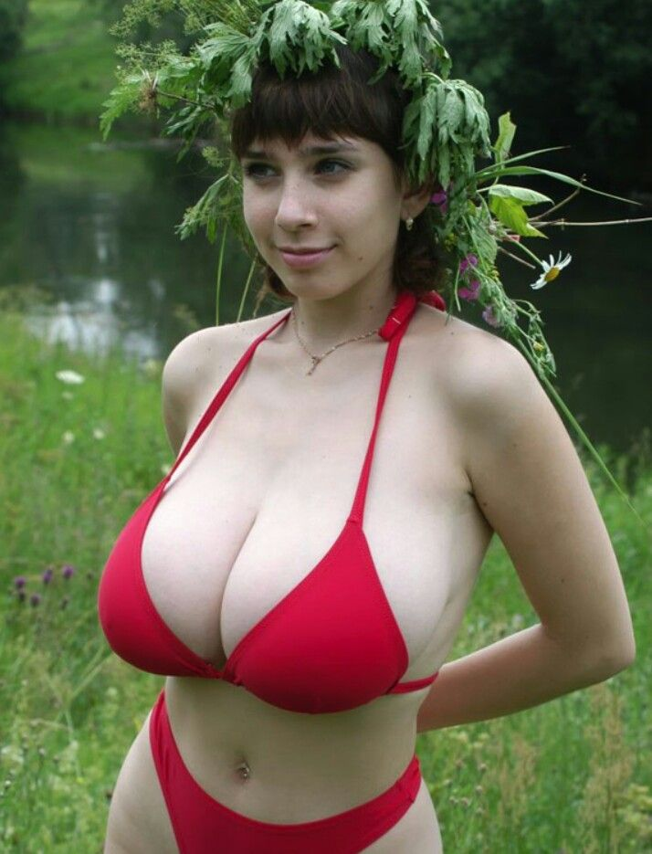 Yulia Nova - Red Bikini - Getting Close To Nature  Sexy -1416