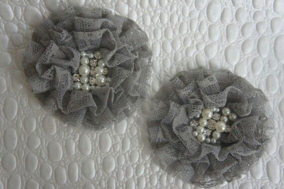 Vintage shabby chic clips