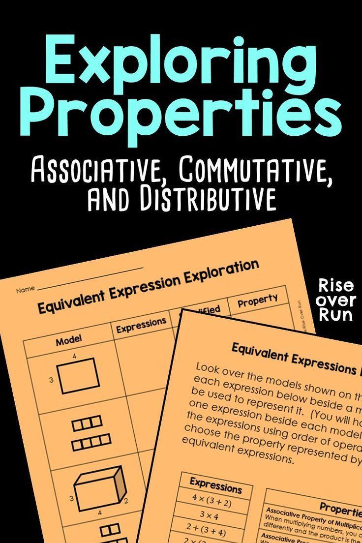 Associative, Commutative, and Distributive Properties ...