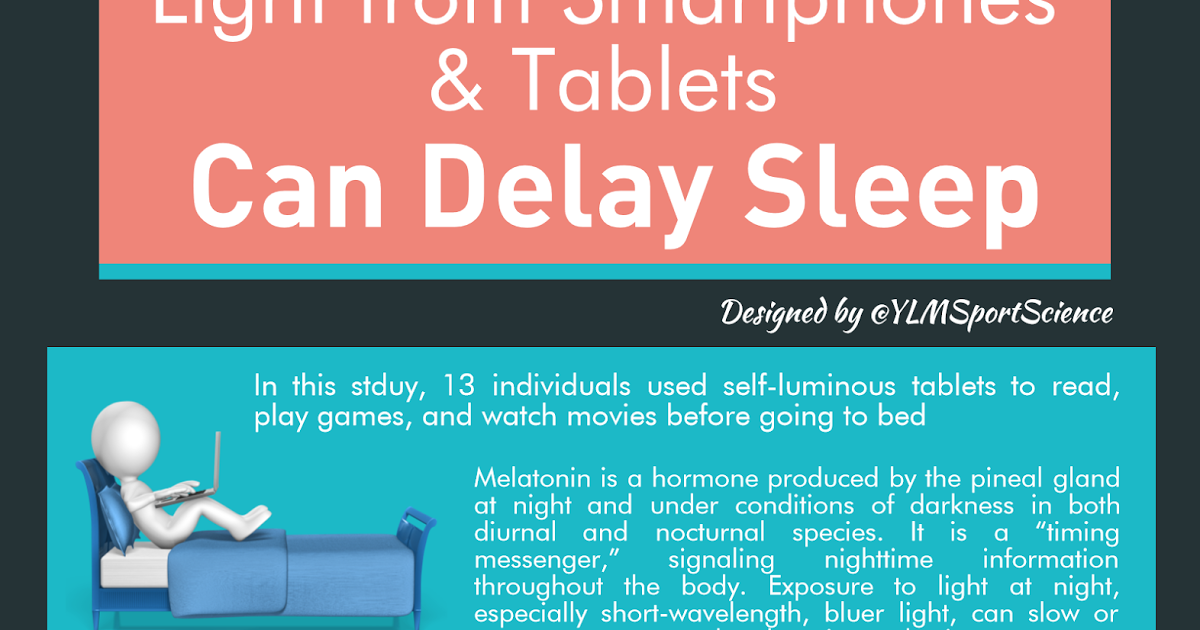 Sport Science Infographics by @YLMSportScience: #Recovery | Light from Smartphones & Tablets Can Delay Sleep | By @YLMSportScience