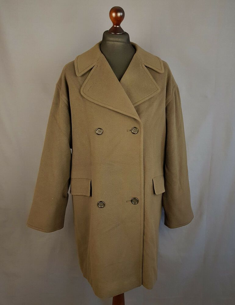 a7c42c50817 Burberry Military Double Breasted Coat Wool Cashmere Womens Size 2XL   fashion  clothing  shoes  accessories  womensclothing  coatsjacketsvests  (ebay link)
