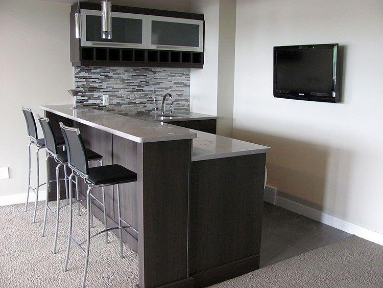 Modern Basement Bar