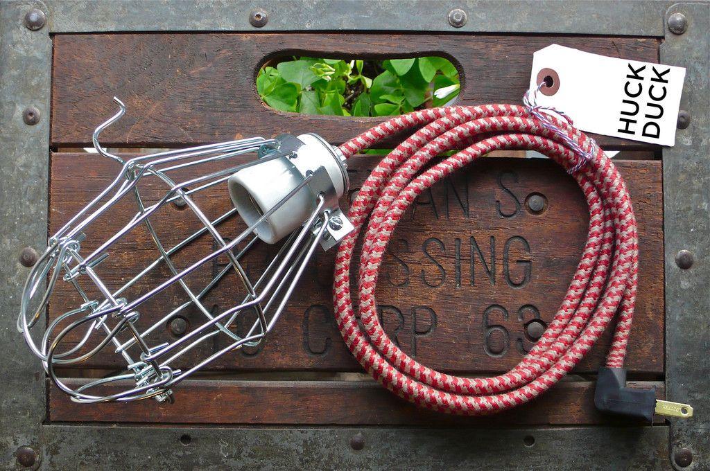 $60 GRANDMA CAGE LAMP w/ ceramic socket.
