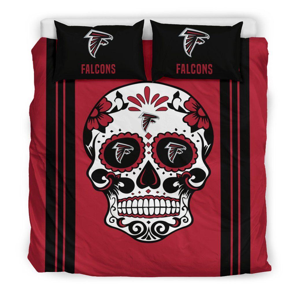Atlanta Falcons Football Sugar Skull Bedding Sets King
