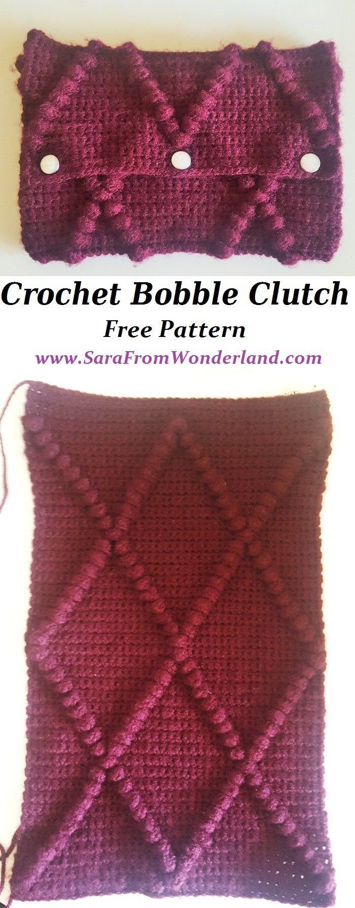 Ganchillo Bobble embrague - SaraFromWonderland | carteras crochet ...