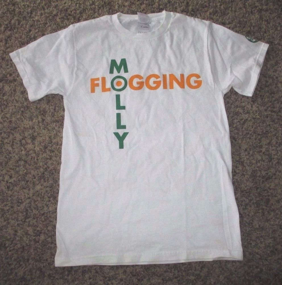 Flogging Molly T Shirt Rare White Adult Small  #FruitoftheLoom #GraphicTee