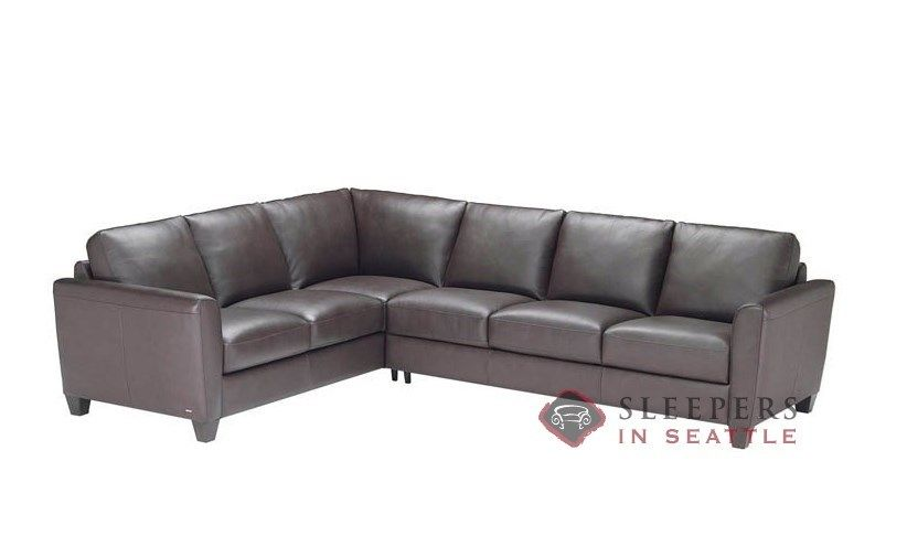 Natuzzi Editions Caffaro C008 True Sectional Leather Queen ...