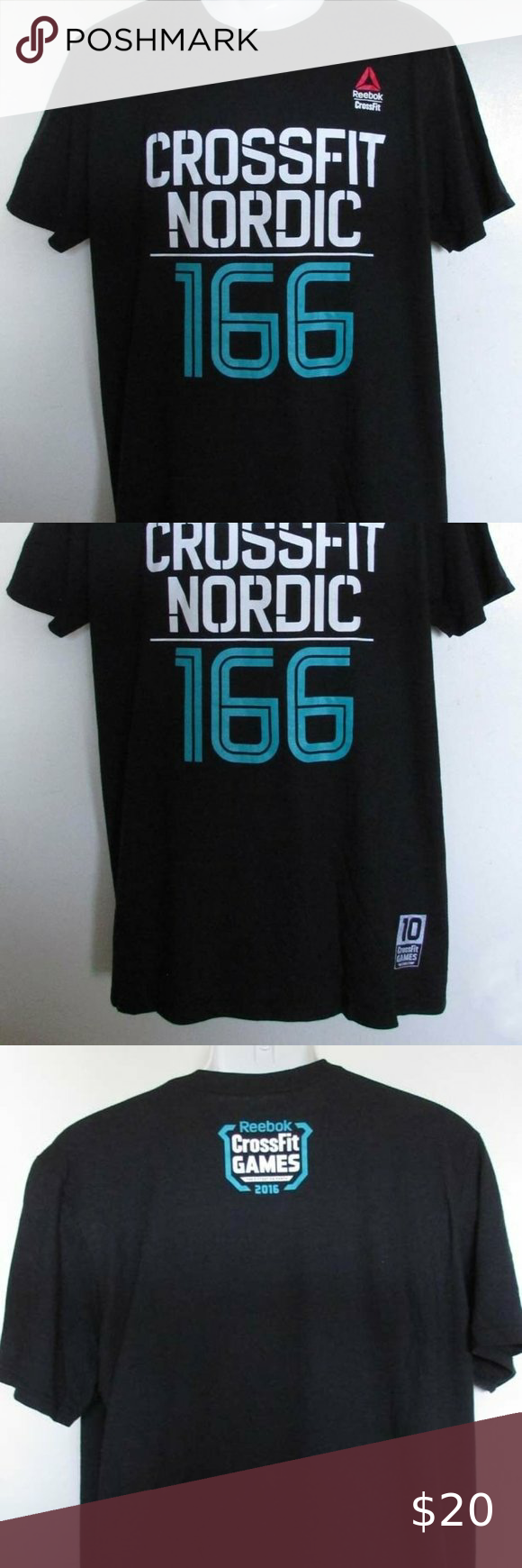 Reebok 2016 CrossFit Games Nordic #166 Men/'s Black T-Shirt