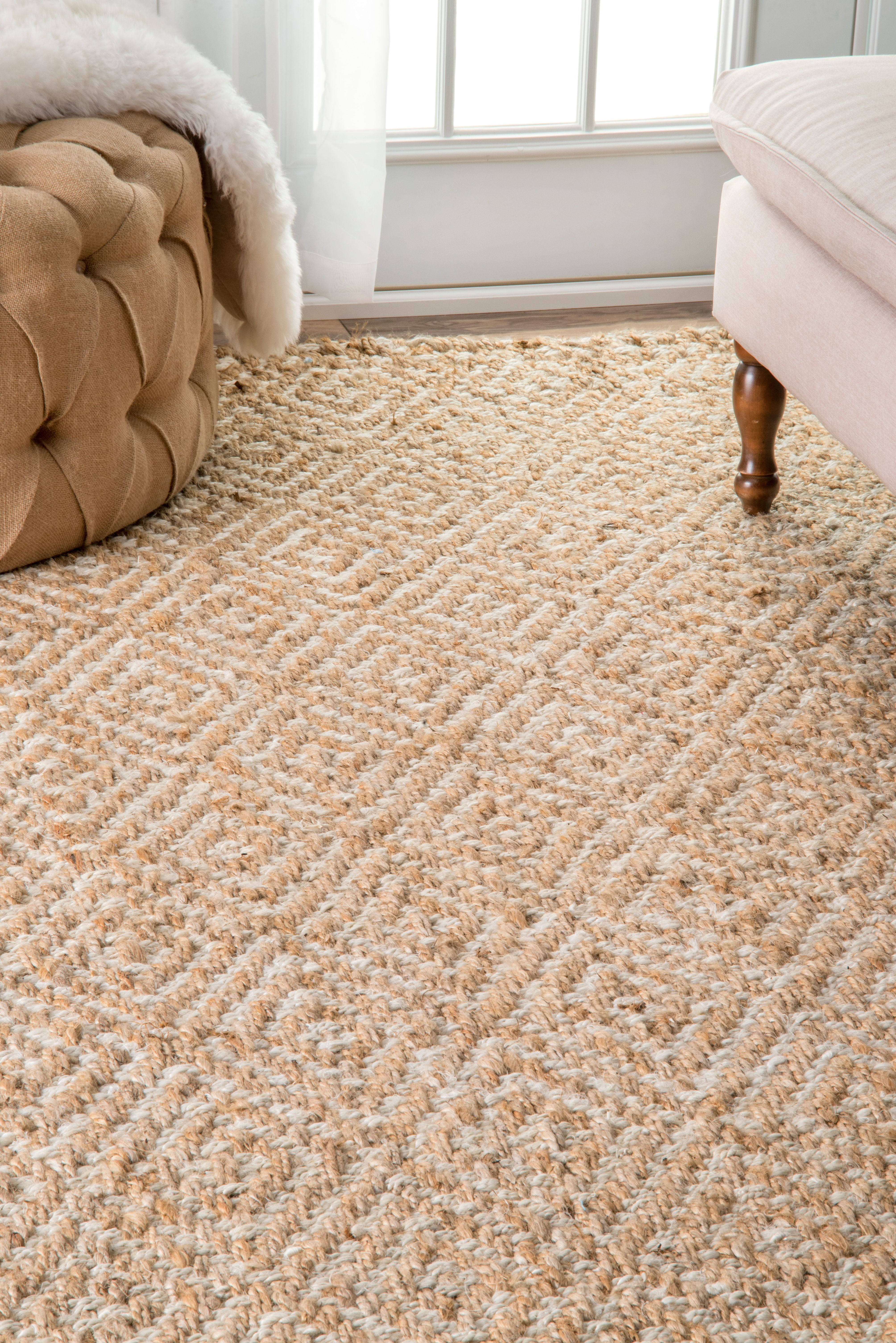 Earthy Organic And Handwoven This Natural Fiber Rug Will Bring A