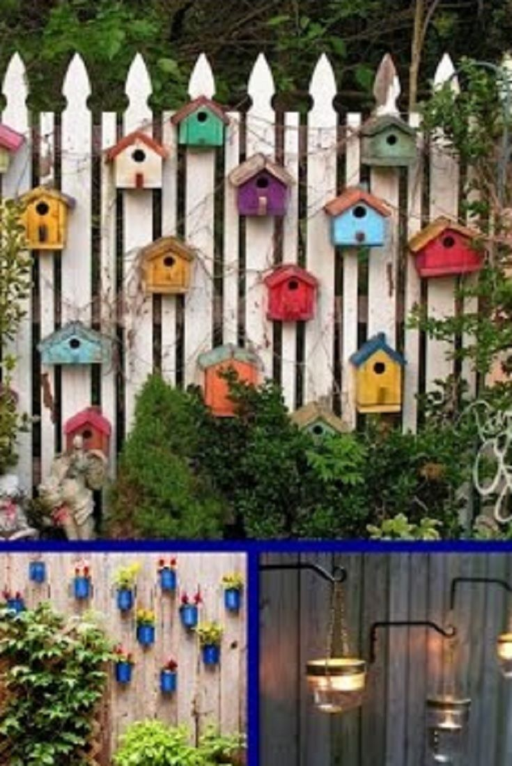 Garden decor craft ideas   DIY Fence Decorating Ideas u Creative Garden Decor VIDEO Diy