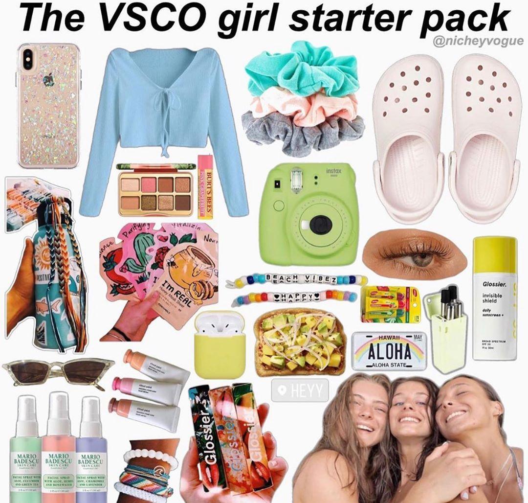 Vsco girl pack Typical white girl, Starter pack, Basic