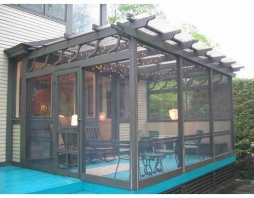 ENCLOSED MODERN PERGOLAS CAN BE USED ALL YEAR ROUND - Use These 15 Pergola Designs To Make Your Home Stunning DIY