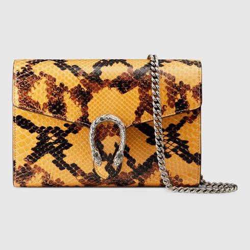 1dc9daa1a4 GUCCI Dionysus Python Mini Chain Bag. #gucci #bags #leather #wallet ...