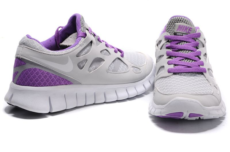 nike free run 2 women's all white sneakers