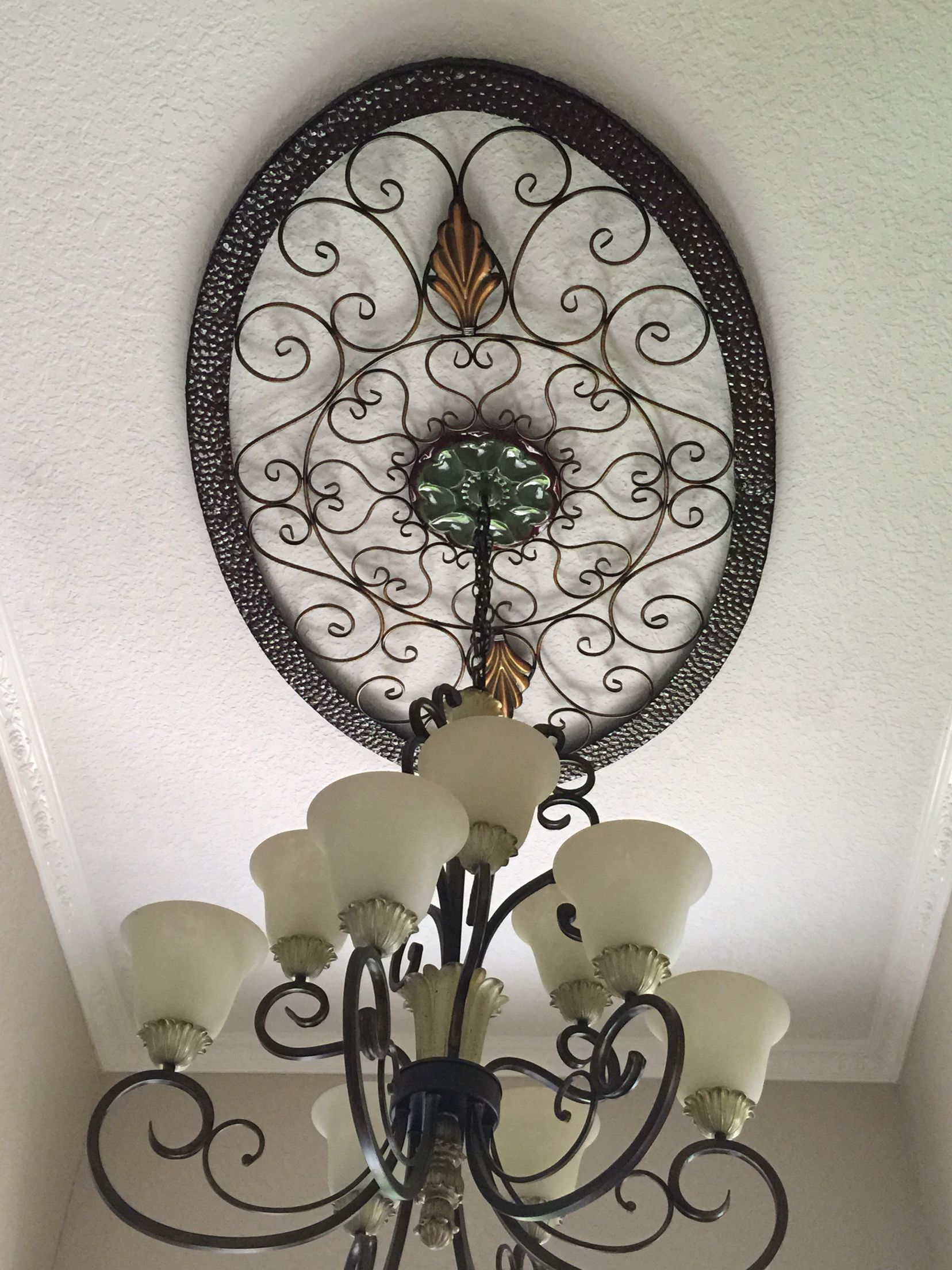 Wall Medallions Metal Wall Art As Foyer Ceiling Medallion  Grable's Home Decor
