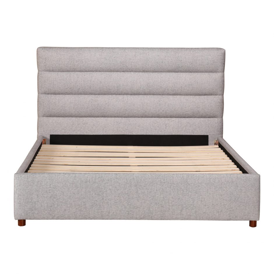Takio Queen Bed Light Grey In 2020 With Images Bed Lights Bed