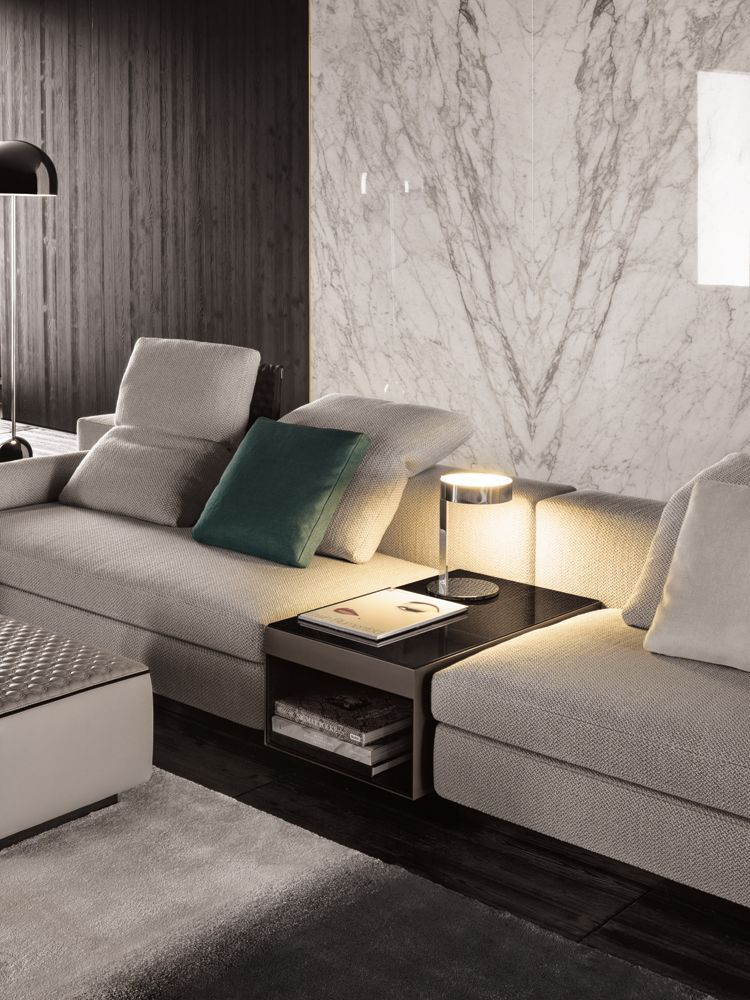 Poltrone E Sofa Vasto.The Yang Sofa By Minotti Is One Of The Innovations Shown At The