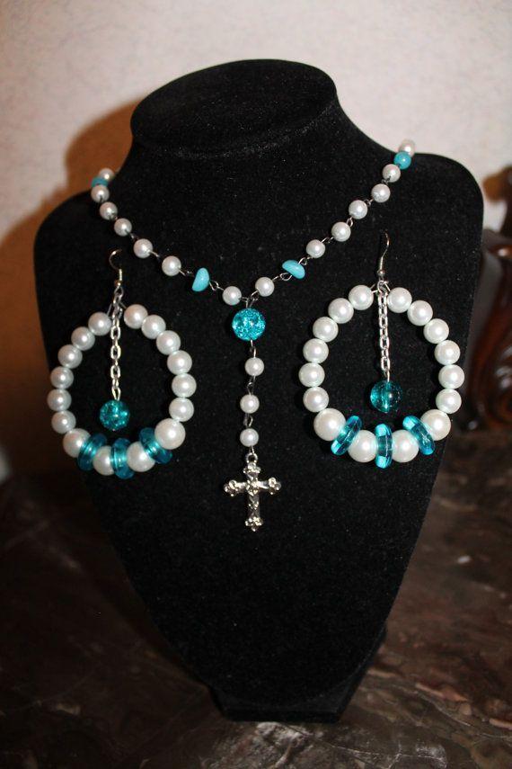 Rosary Jewelry Set #rosaryjewelry Rosary Jewelry Set #rosaryjewelry