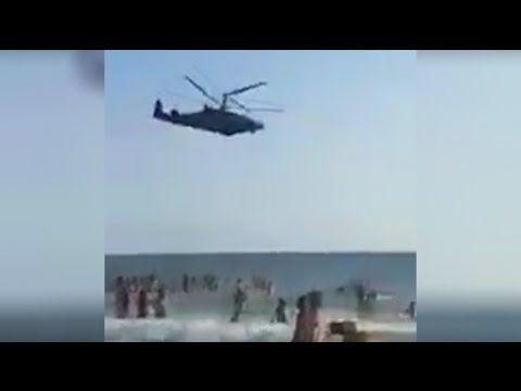 Латакия.Русский вертолет устроил смертельную развлекуху для женщин и детей