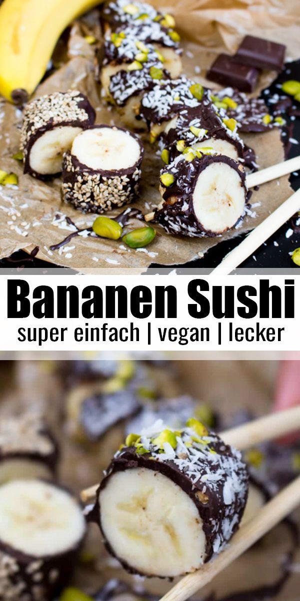 Bananen Sushi  #veganerezepte