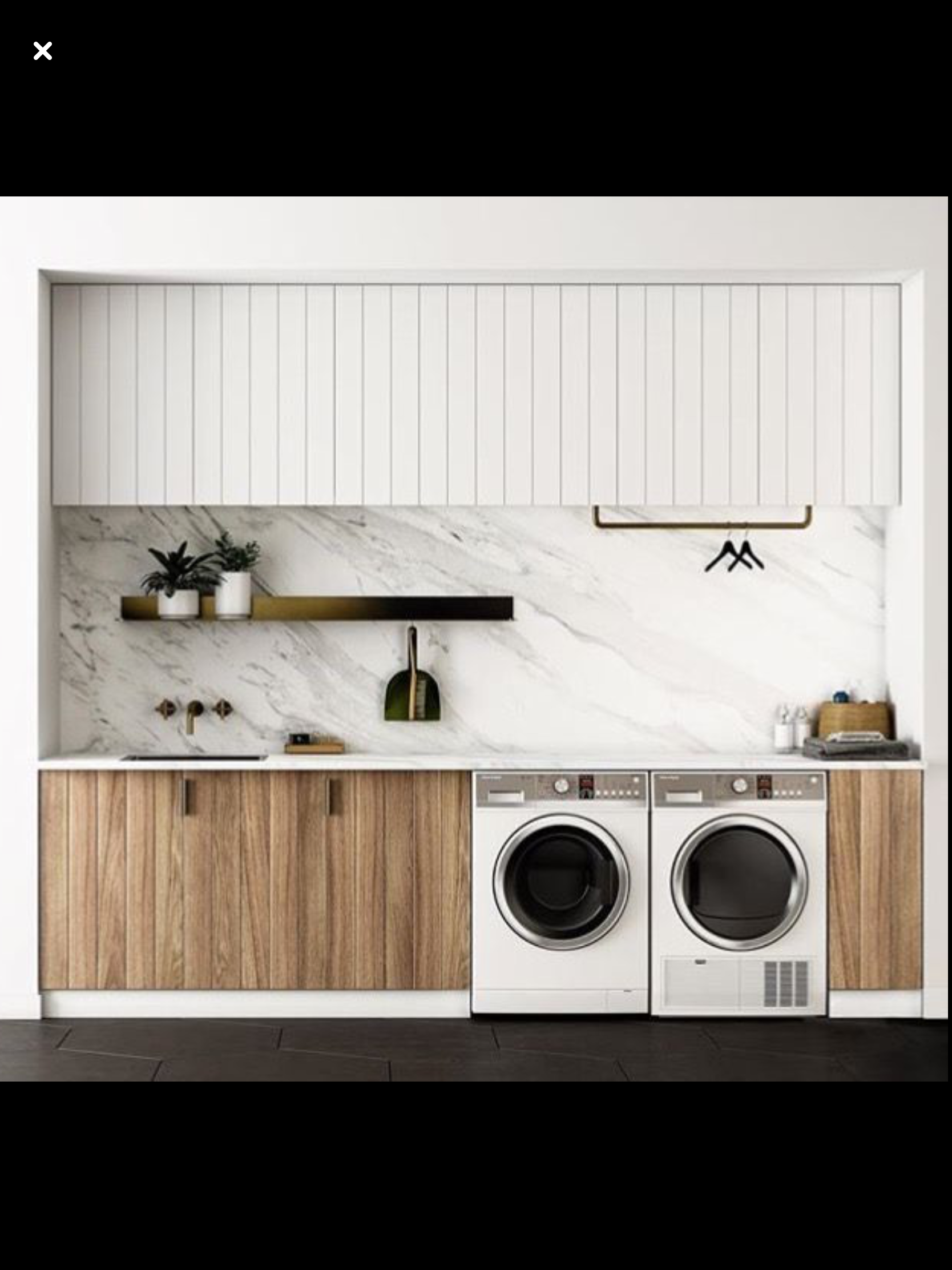 Contrasting Cupboard Surfaces Laundry Room Design Laundry Design Modern Laundry Rooms