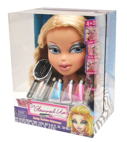 Makeup and Hair Styling Doll Head  Bratz \u002639;All Glammed Up