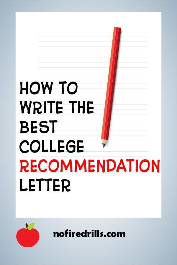 Write the Perfect College Recommendation! College - college recommendation letters
