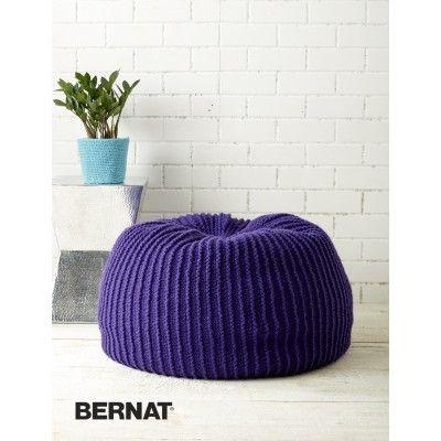 Take Notice Pouf - Patterns   Yarnspirations   Knitting and crochet ...