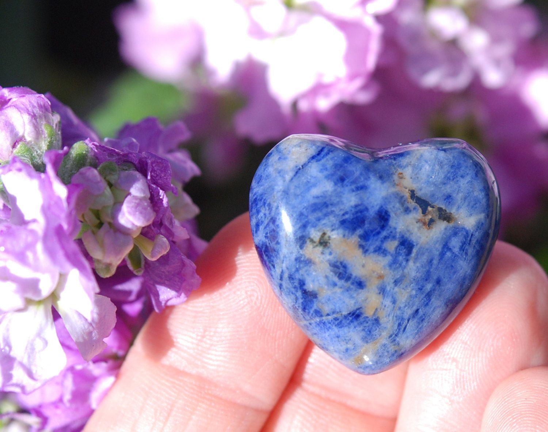 Sodalite Heart Blue Heart Stone Throat Chakra Stone Sodalite