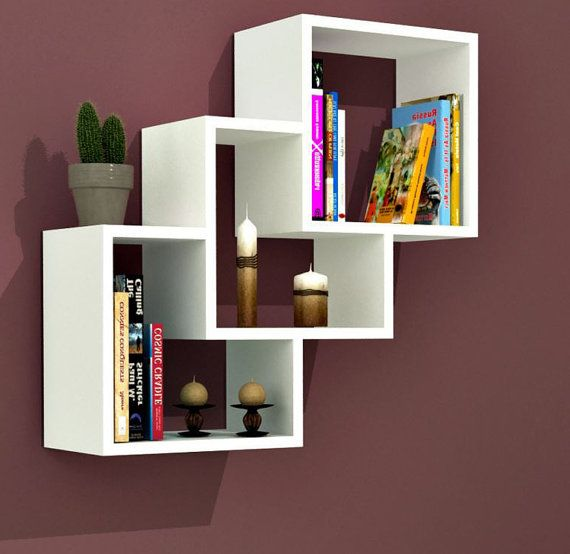 Wall Shelves Bookcase Bookshelf Bookshelves Simple And Stylish Bookshelf Is A Contemporary And Angular Des Wall Shelves Wall Shelf Decor Wall Shelves Design