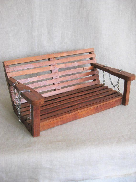 Groovy Vintage Handmade Wooden Tree Doll Swing Porch Bench Fairy Gmtry Best Dining Table And Chair Ideas Images Gmtryco
